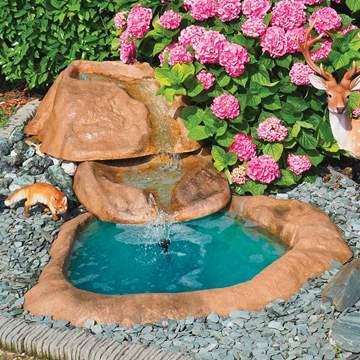 Immagine di Cascata Marmore cm. 290x160 con pompa, composta da 3 pezzi