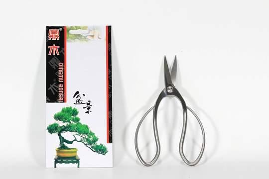 Immagine di Forbice bonsai per radici in acciaio satinato mm. 195