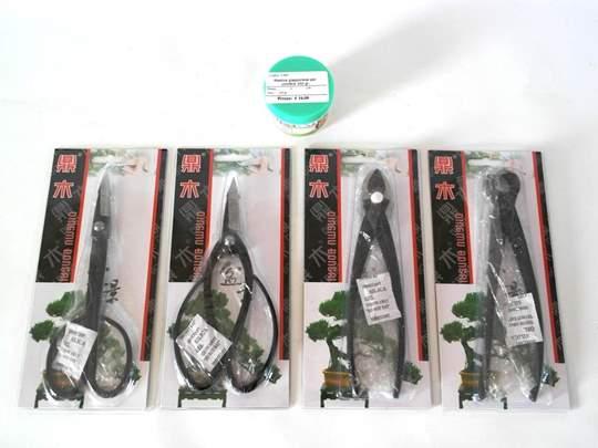 Immagine di Kit per Potatura Bonsai - 4 Attrezzi e mastice