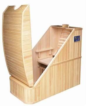 Immagine di Sauna Infrarossi per 1 persona  in legno Hemlock