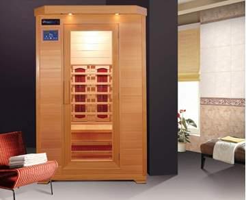 Immagine di Sauna Infrarossi per 2 persone  in legno Hemlock