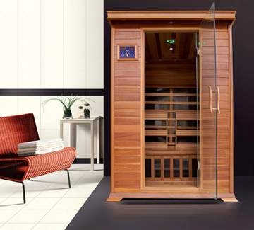 Immagine di Sauna Infrarossi per 2 persone in legno di cedro rosso