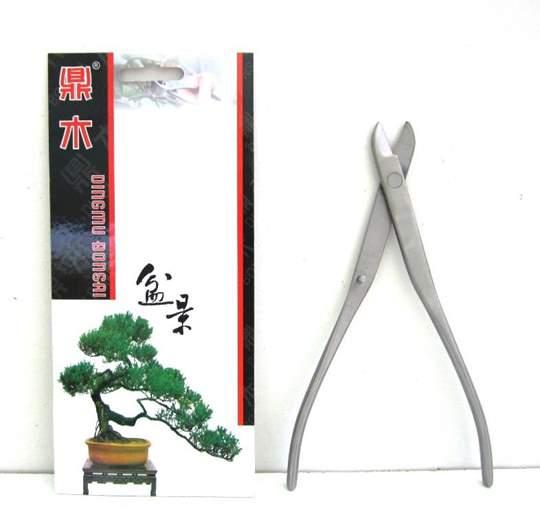 Immagine di Tronchese tagliafilo bonsai a manico lungo in acciaio satinato mm. 210