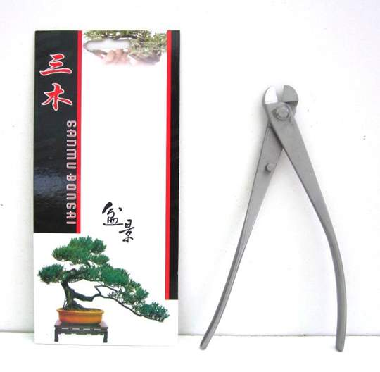 Immagine di Tronchese tagliafilo bonsai in acciaio satinato mm. 210