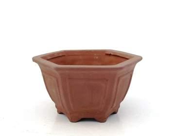 Immagine di Vaso bonsai mini esagonale in gres cm. 12