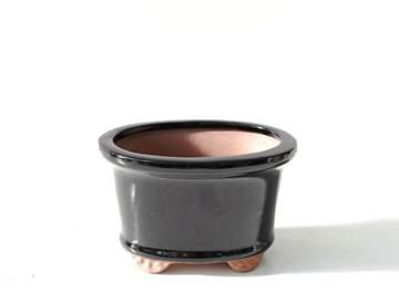 Immagine di Vaso bonsai mini ovale smaltato cm. 13