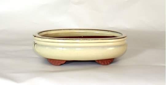 Immagine di Vaso bonsai smaltato ovale cm. 21