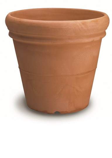 Immagine di Vaso resina Doppio Bordo Liscio cm. 42