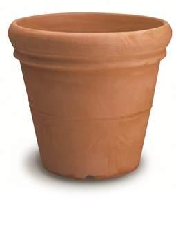 Immagine di Vaso resina Doppio Bordo Liscio cm. 45