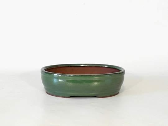 Immagine di Vaso bonsai smaltato ovale cm. 20