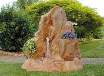 Immagine di Cascata Monaco cm. 142x70xh.148 con pompa, composta da 2 pezzi