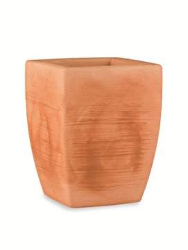 """Immagine di Vaso quadrato in resina """"Fiordaliso"""" 40 cm."""