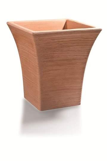 """Immagine di Vaso quadrato in resina """"Gardenia"""" 50 cm."""