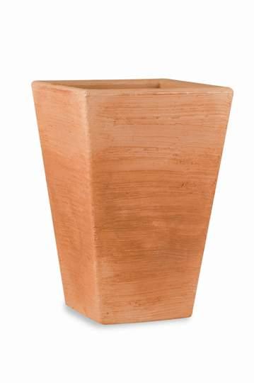 """Immagine di Vaso quadrato in resina """"Giglio"""" 55 cm."""