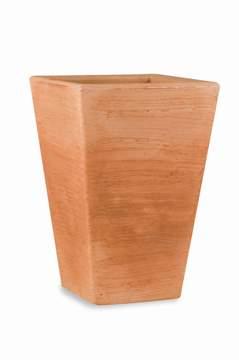 """Immagine di Vaso quadrato in resina """"Giglio"""" 80 cm."""