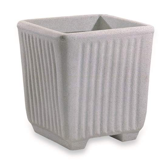 Immagine di Vaso  in resina effetto Granito Millerighe 45 cm.
