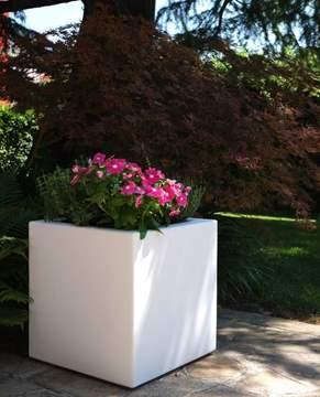 """Immagine di Cubo liscio in resina """"Fenice"""" cm. 65"""