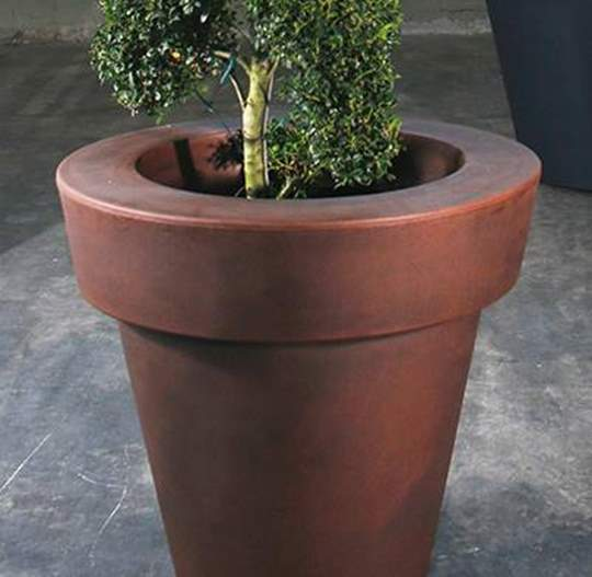 Immagine di Vaso tondo Mirage in resina cm. 100