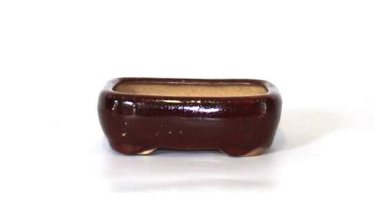 Immagine di Vaso bonsai mini rettangolare smaltato cm. 12