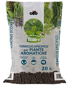 Immagine di Terriccio per Piante Aromatiche Torfy BIO da 20 lt.