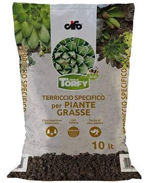 Immagine di Terriccio per piante grasse e succulente Torfy BIO da 10 lt.