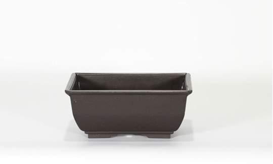 Picture of Vaso rettangolare per Piante e Bonsai in plastica nera cm. 15