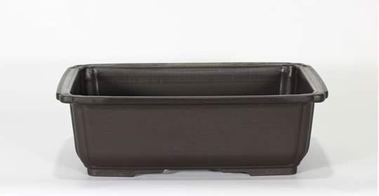 Immagine di Vaso rettangolare per Piante e Bonsai in plastica nera cm. 27