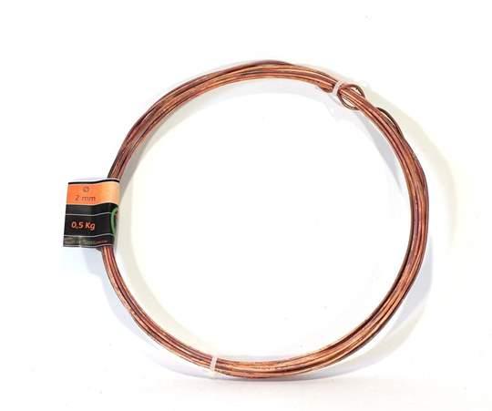 Picture of Bonsai copper wire diam. 2 mm - skein 1 Kg