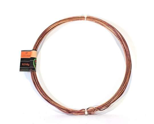 Picture of Bonsai copper wire diam. 2.5 mm - skein 1 Kg
