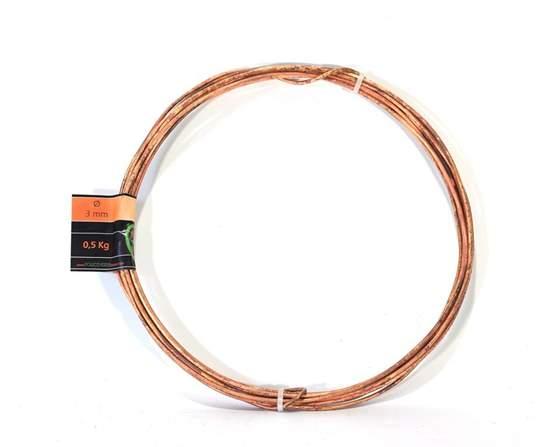 Picture of Bonsai copper wire diam. 3 mm - skein 1 Kg