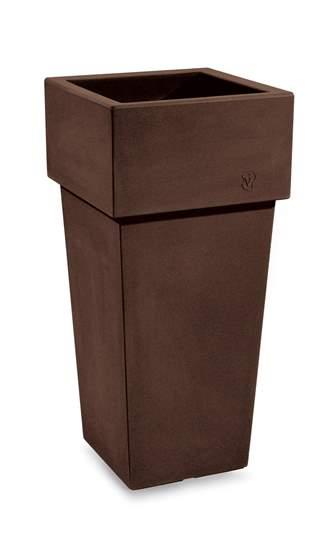 """Picture of Resin Square cache pot """"Gemini"""" h.  85 cm"""