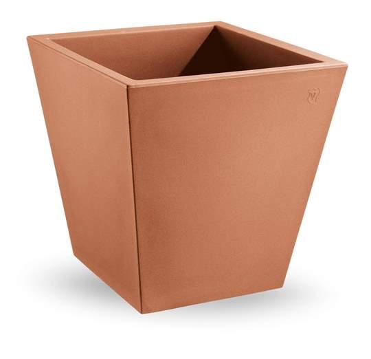 """Picture of Vaso quadrato in resina """"Single"""" 35 cm."""
