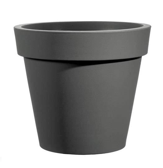 """Immagine di Vaso rotondo in resina """"Easy"""" 80 cm."""