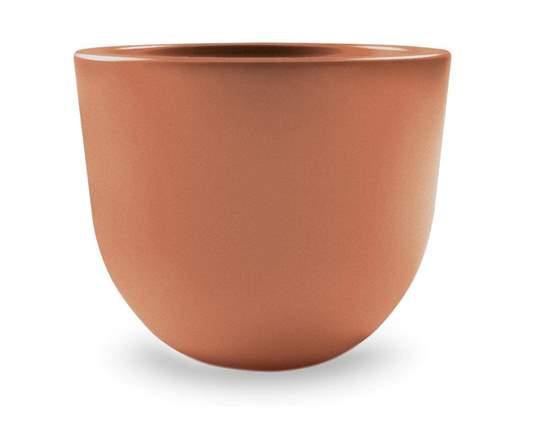 """Immagine di Vaso rotondo in resina """"Eggy"""" 35 cm."""