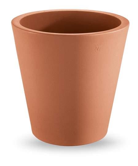 """Immagine di Vaso rotondo in resina """"Single"""" 35 cm."""