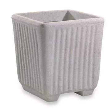Picture of Vaso  in resina effetto Granito Millerighe 50 cm.