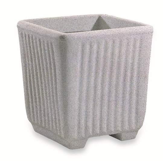 Picture of Vaso in resina effetto Granito Millerighe 40 cm.