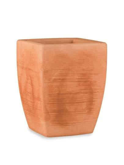 """Immagine di Vaso quadrato in resina """"Fiordaliso"""" 70 cm."""