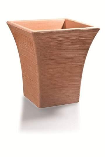 """Immagine di Vaso quadrato in resina """"Gardenia"""" 30 cm."""
