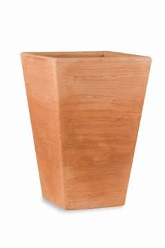 """Immagine di Vaso quadrato in resina """"Giglio"""" 60 cm."""