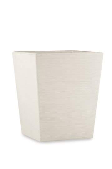 """Immagine di Vaso quadrato in resina """"Rosa"""" 55 cm."""