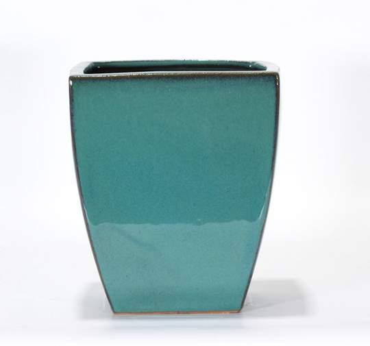 Immagine di Vaso bonsai smaltato quadrato cm. 15