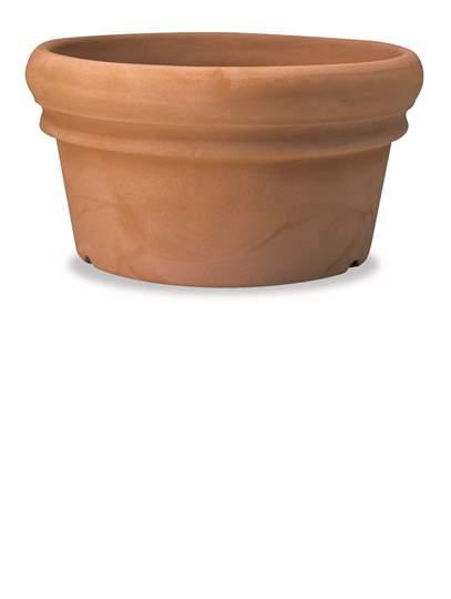 Immagine di Conca Doppio Bordo in resina mezzo vaso 55 cm.